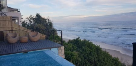 Ocean view from the Luxury Villa in Wilderness